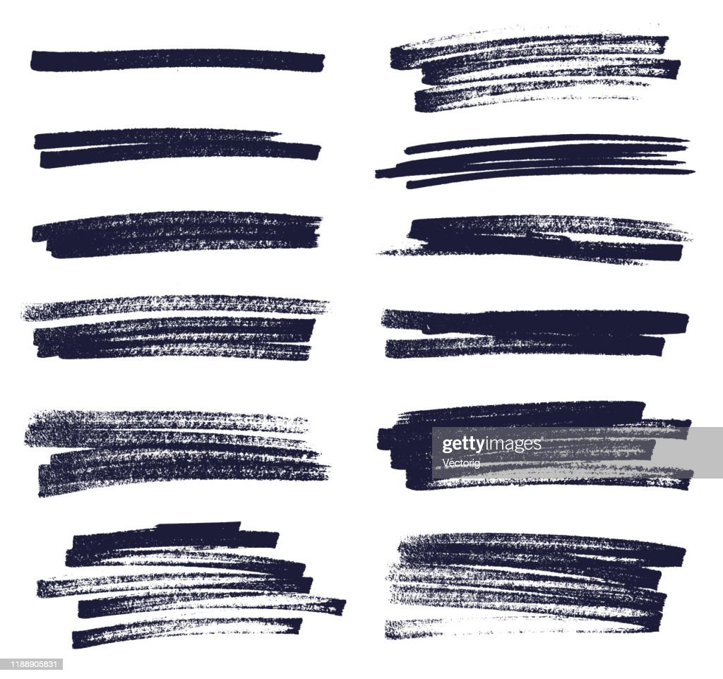 Isolated Marker Lines on a white Background : Stock Illustration