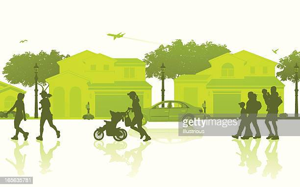 Isolated Neighborhood Scene
