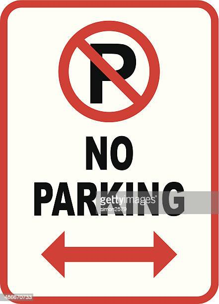 isolated no parking sign on white - parking sign stock illustrations
