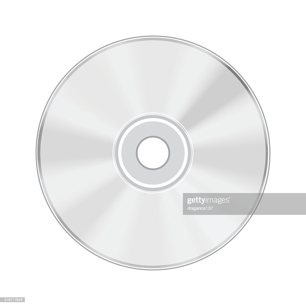 CD isolated on white background