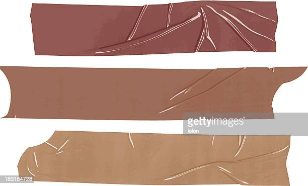 isolated packing tape samples - brown stock illustrations