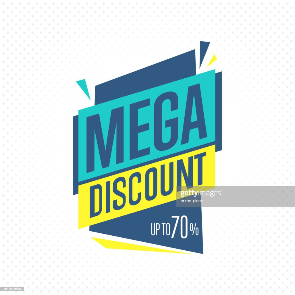 Isolated sale badge, label or sticker, vector