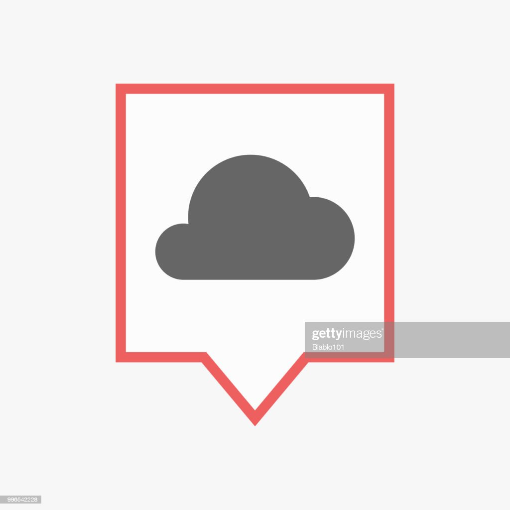Isolated tooltip with a cloud
