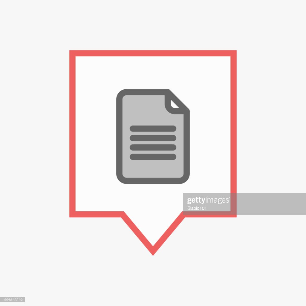 Isolated tooltip with a document