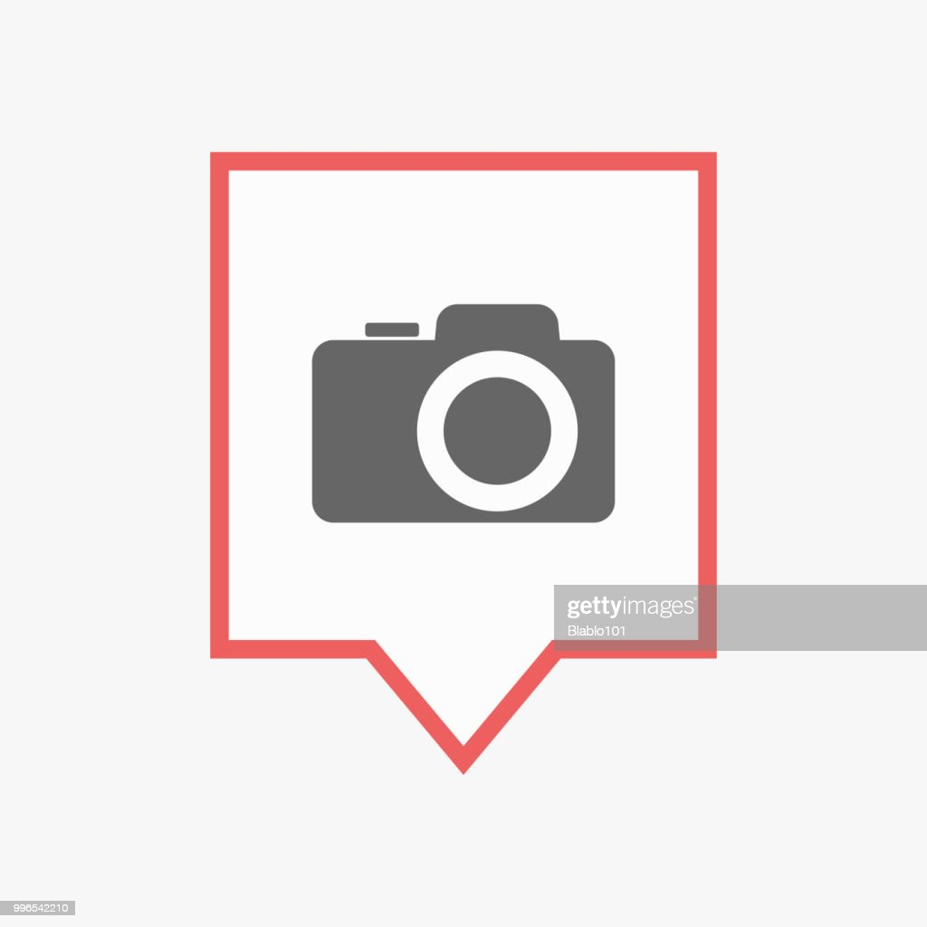 Isolated tooltip with a photo camera