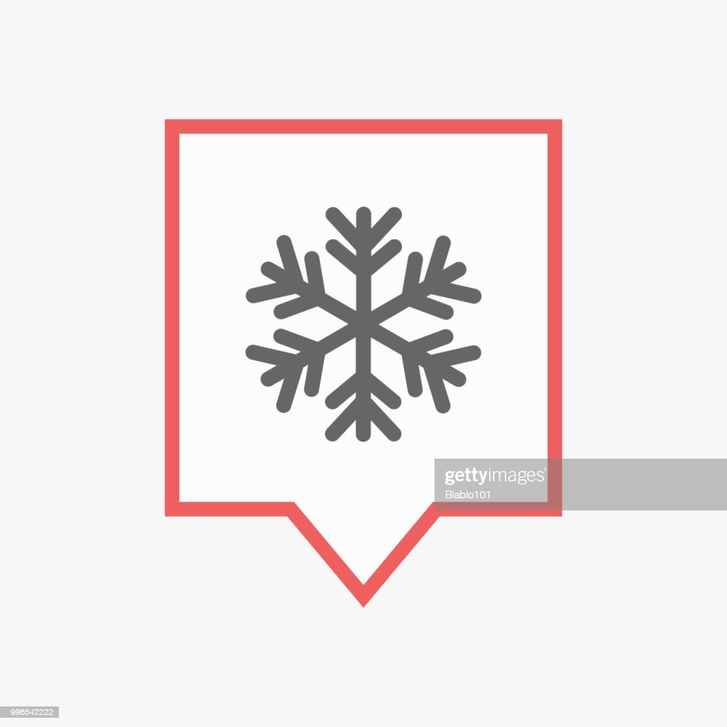 Isolated tooltip with a snow flake