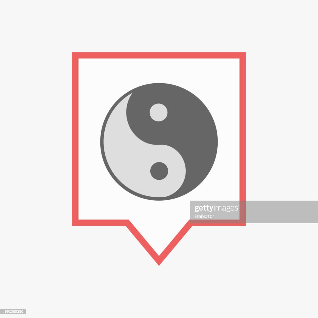 Isolated tooltip with a ying yang