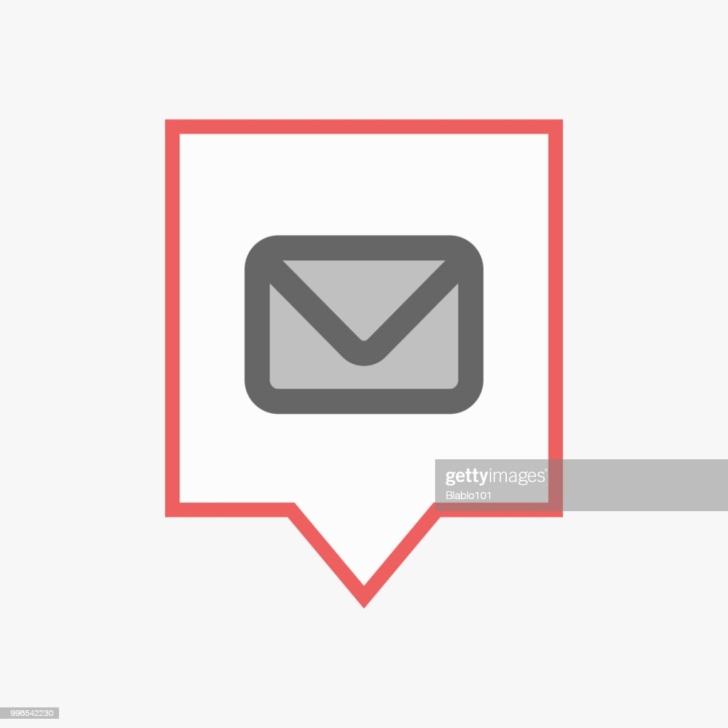 Isolated tooltip with an envelope