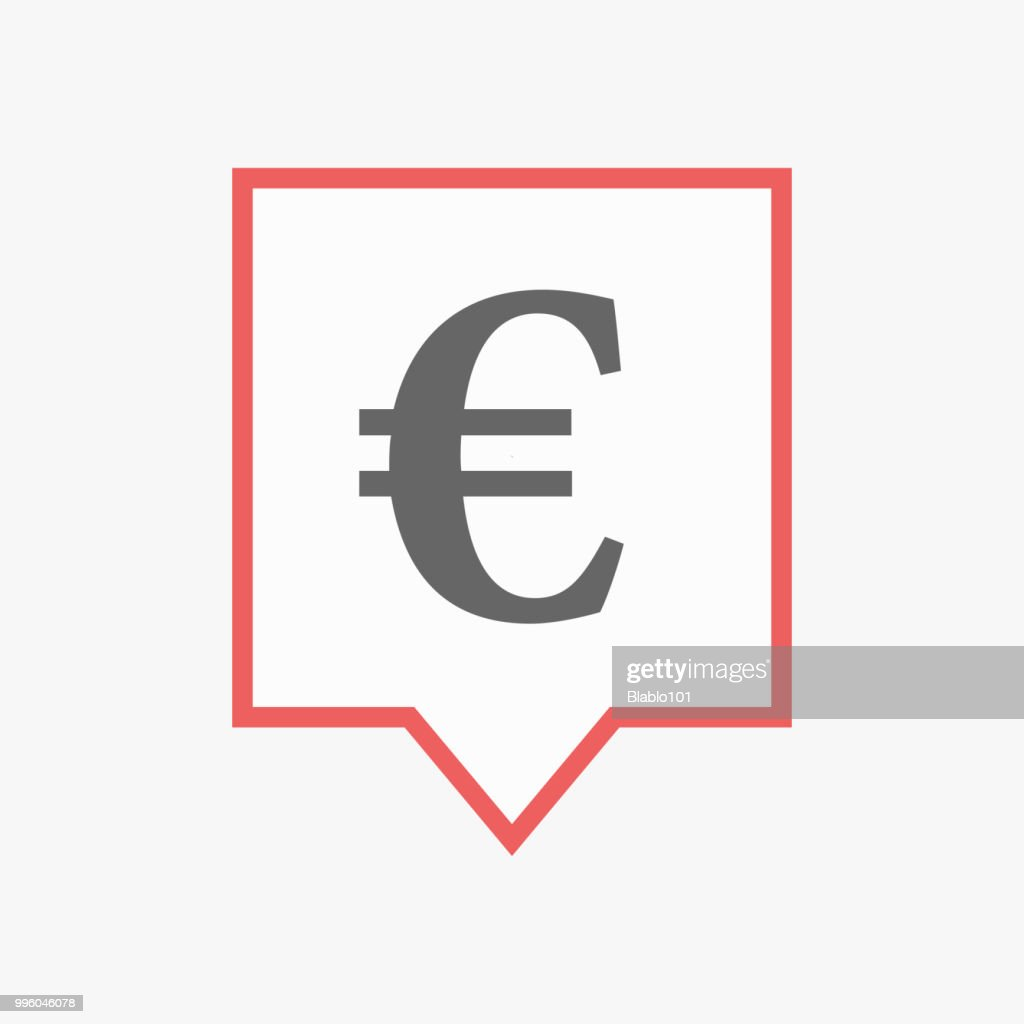 Isolated tooltip with an euro sign
