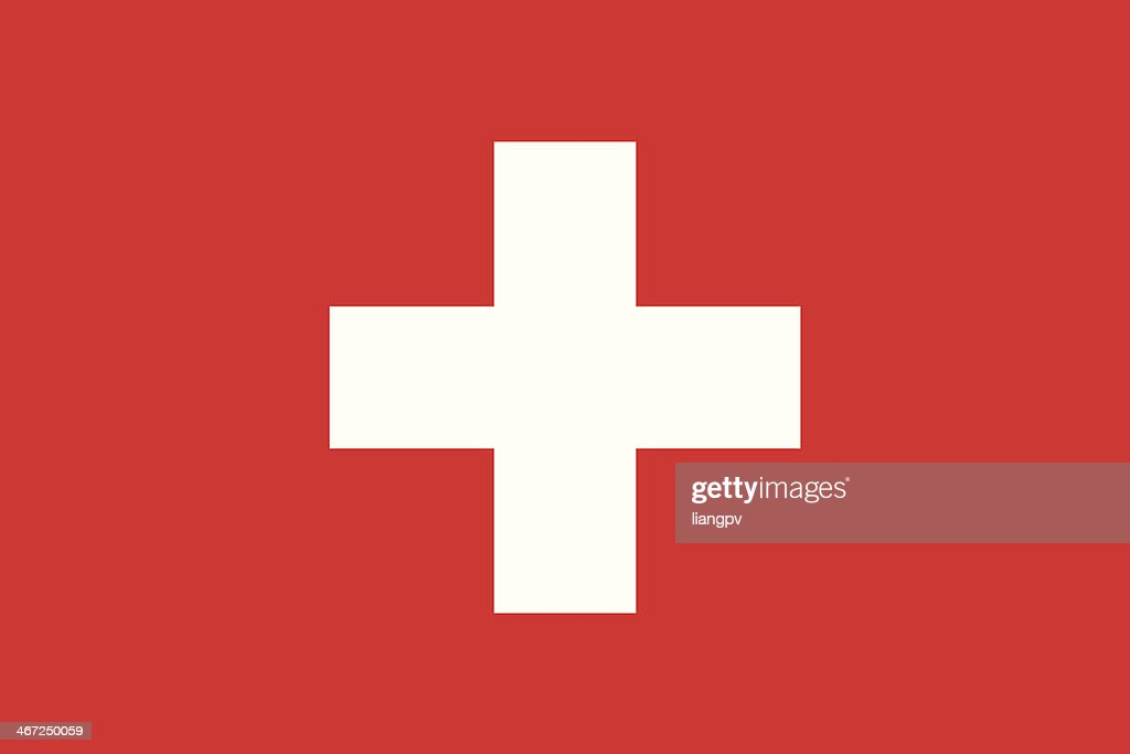 Isolated vector image of the flag of Switzerland