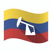 Isolated Venezuela flag with a horsehead pump