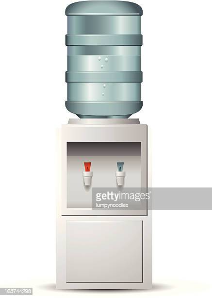 isolated water cooler on white background - no people stock illustrations
