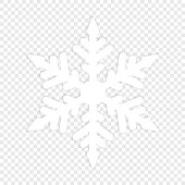 Isolated winter snowflake. Element