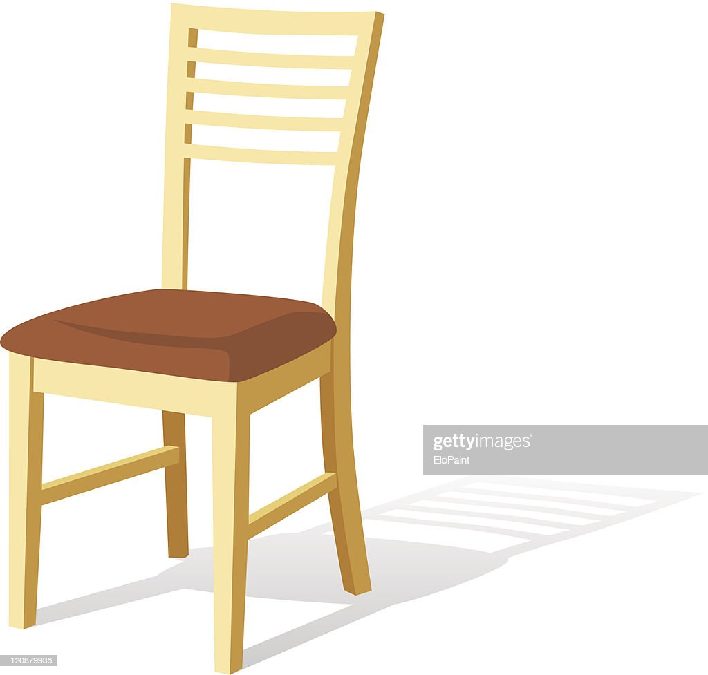 Isolated wooden chair with a white background