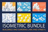Isometric 3D set for design