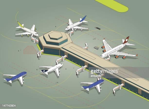 Aéroport Isométrique Tablier