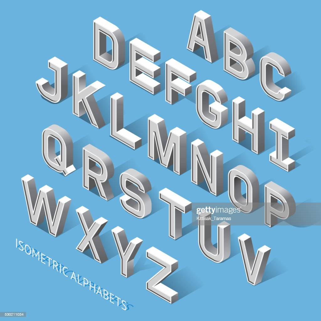Isometric Alphabets Set.