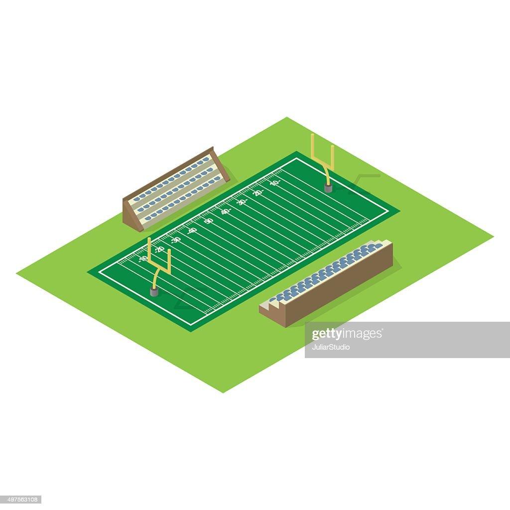 Isometric american football field
