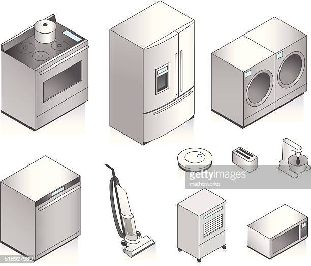 Isometric Appliances Illustration
