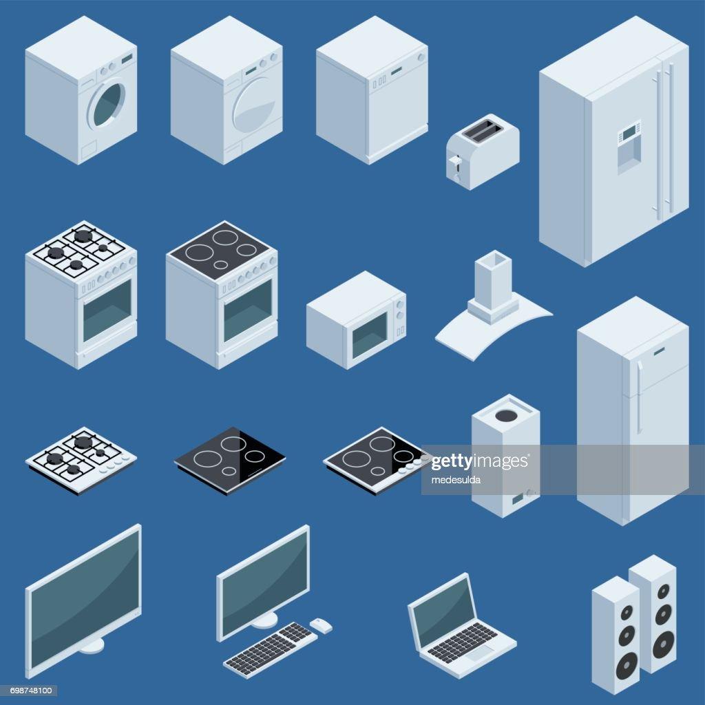 Isometric Appliances : stock illustration