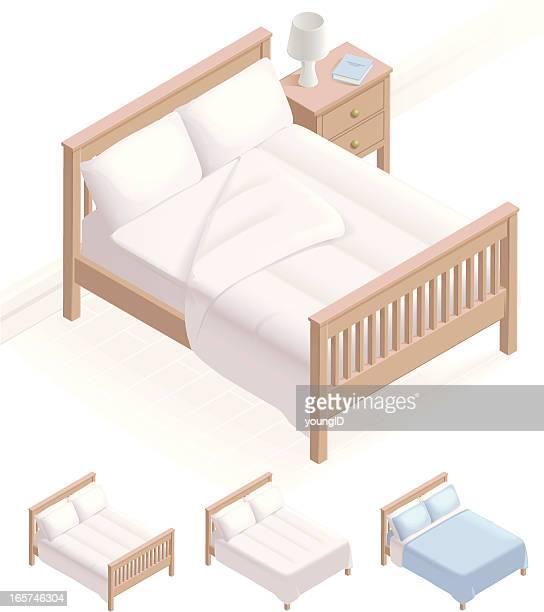 アイソメトリックベッド&ベッド