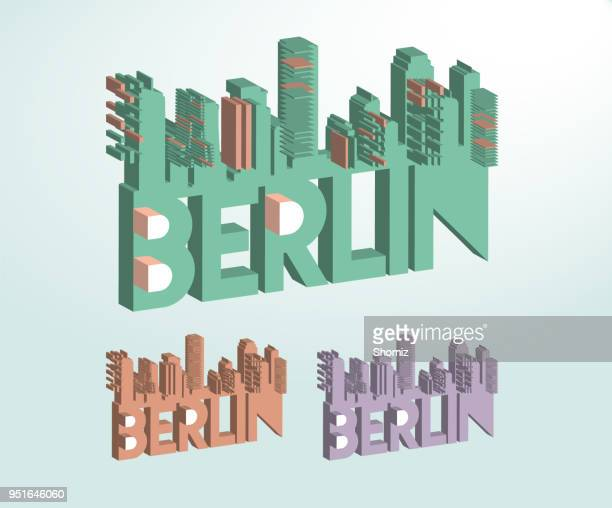 isometric berlin - brandenburg gate stock illustrations, clip art, cartoons, & icons