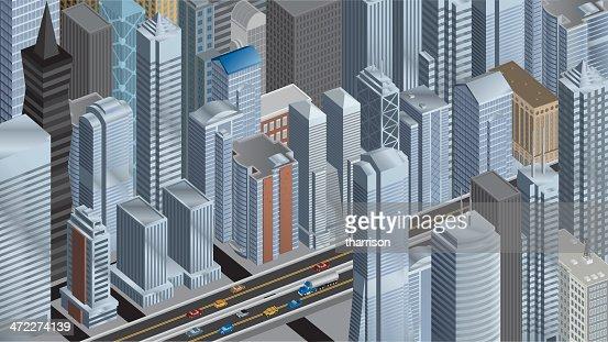 Isometric Big City Panoramic