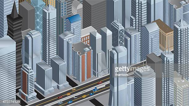 Isometric Big City Panoramic