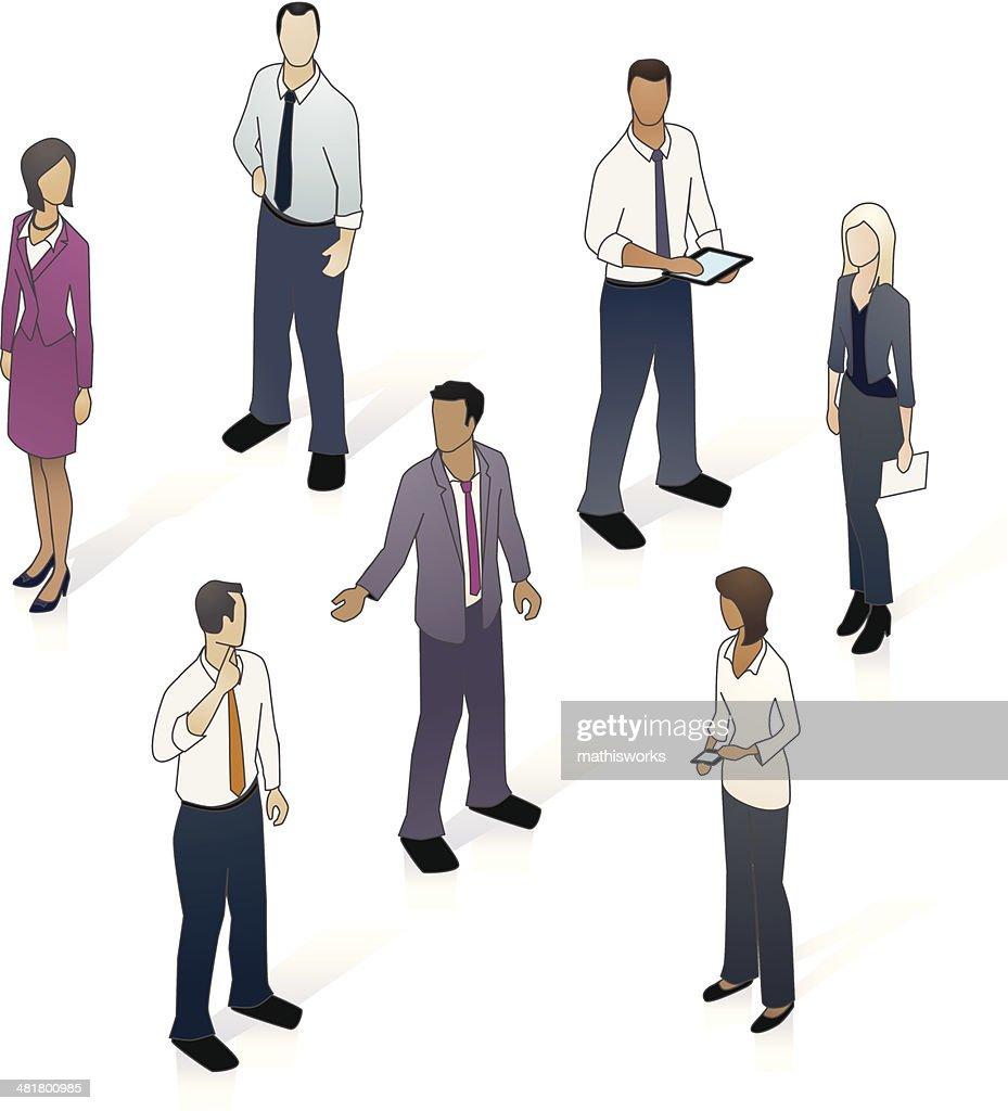 Isometric Business People