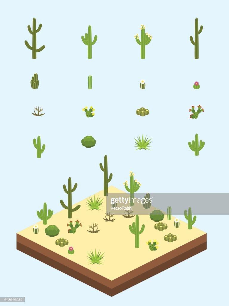 Isometric Cacti and Bushes