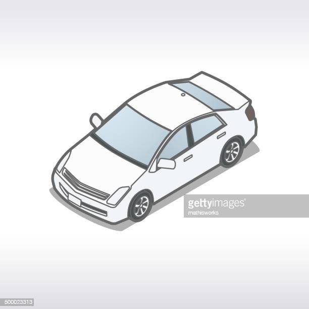 isometric car illustration - mathisworks stock illustrations