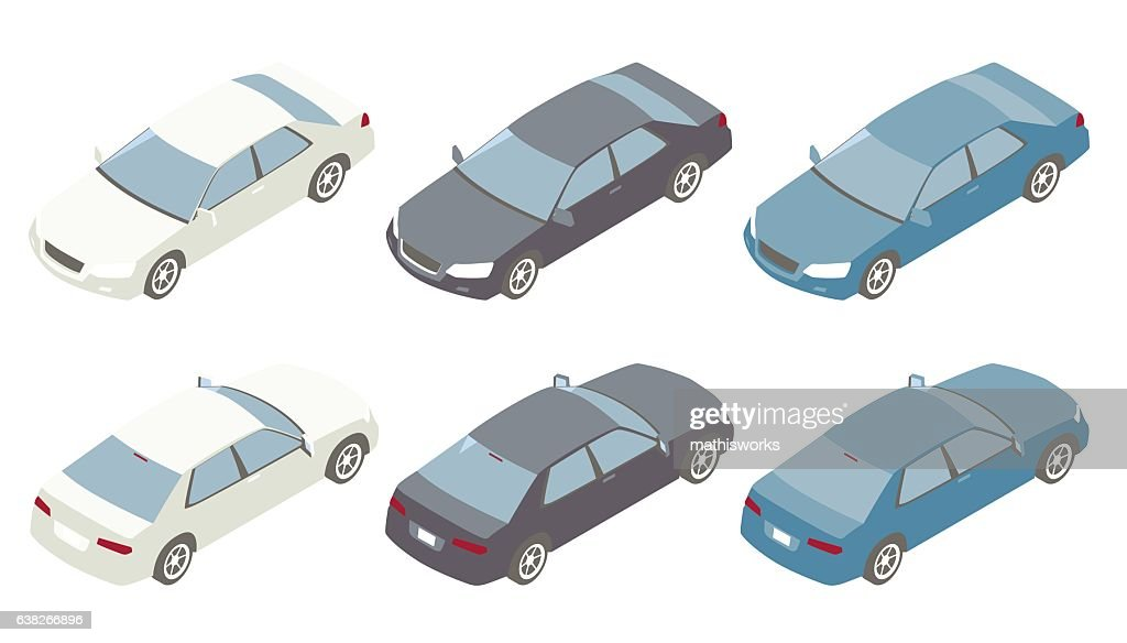 Isometric Cars Illustration : Vector Art