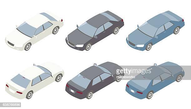 Isometric Cars Illustration