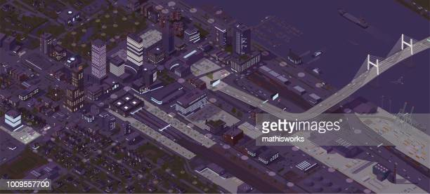 Isometric City Night
