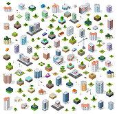 Isometric city set street