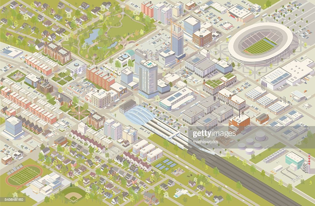 Isometric City : stock illustration