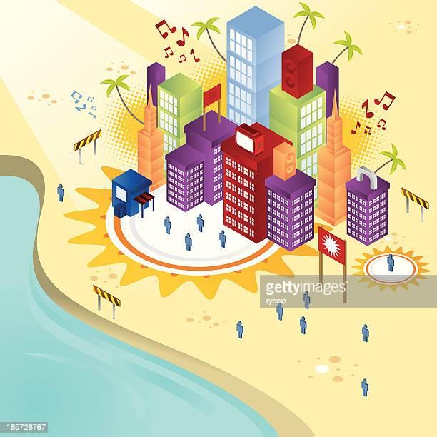 Isometric coast city