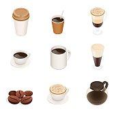 Isometric Coffee types