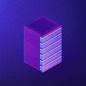 Isometric database and big data concept