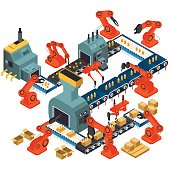 Isometric Design of Automated Processing Plant