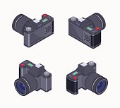 Isometric digital photo camera