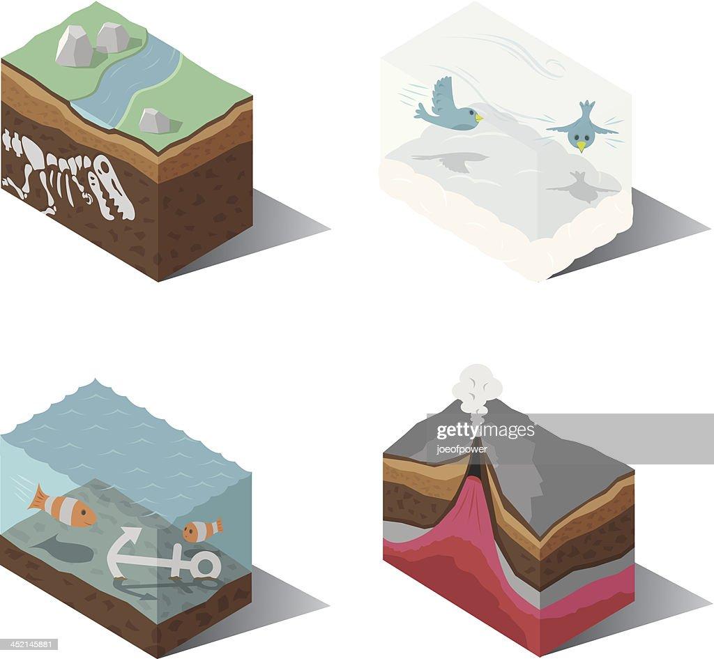 Isometric | Earth, Wind, Water, Fire