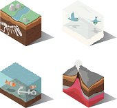Isometric | Earth, Wind, Water, Fire