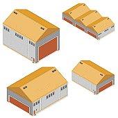 Isometric Factory Warehouse