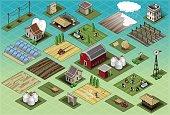 Isometric Farm Set Tiles