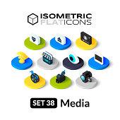 Isometric flat icons set 38