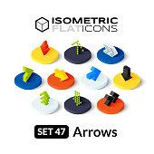 Isometric flat icons set 47
