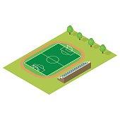 Isometric football field