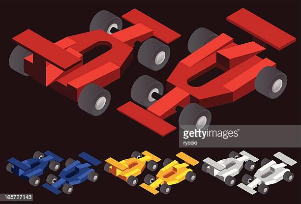 ilustrações, clipart, desenhos animados e ícones de isometric carros da corrida de fórmula 1 - fórmula 1