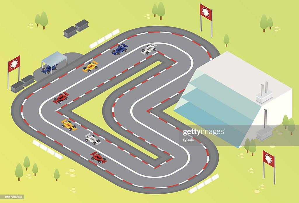 isometric formula one racing : stock illustration